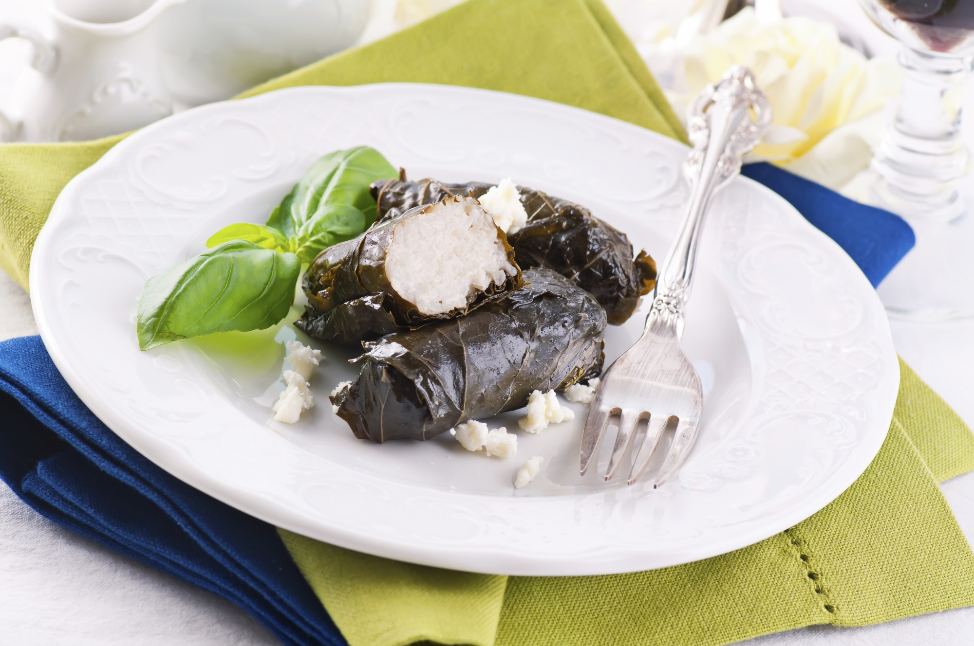 Dolma stuffed with rice and feta